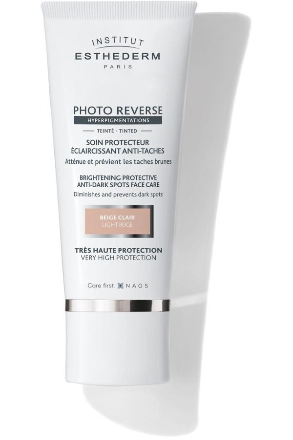 Photo Reverse színezett fényvédő hiperpigmentált bőrre, világosbézs
